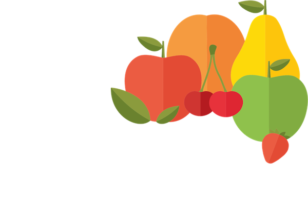Red Rich Fruits Retina Logo