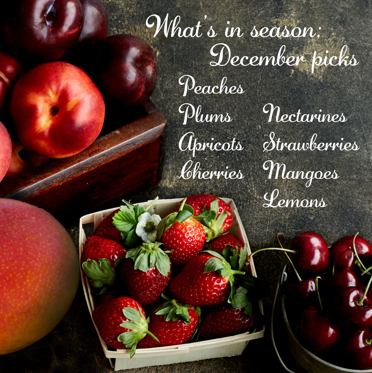 What's in Season: December Picks | Red Rich Fruits