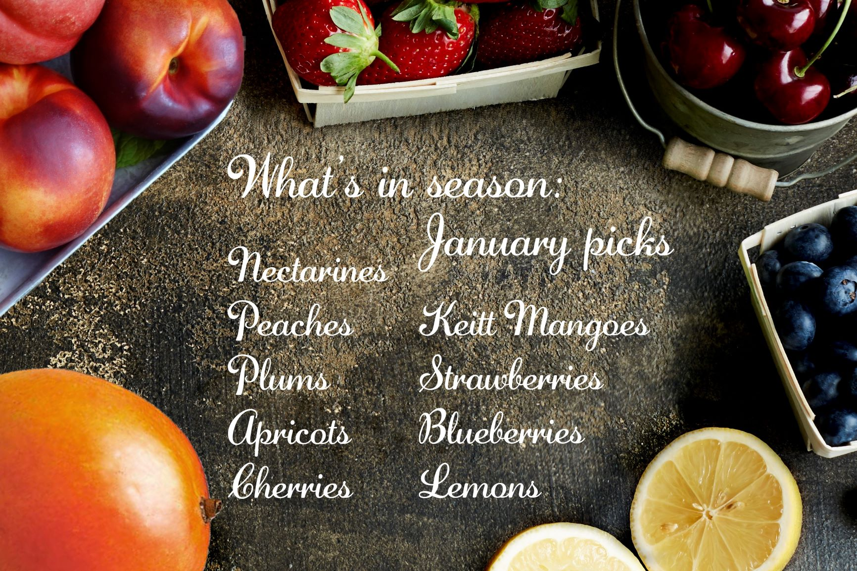 What's in season - January