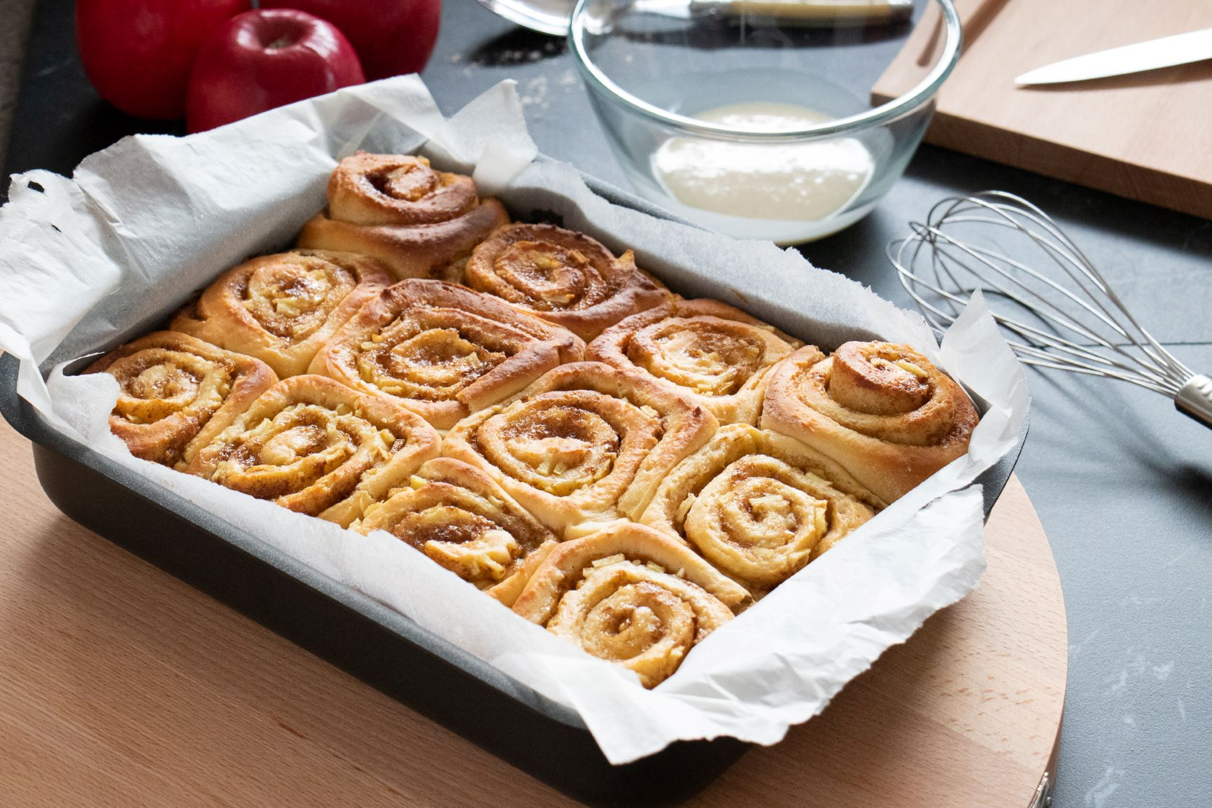 Apple Maple Syrup & Cinnamon Scrolls Recipe
