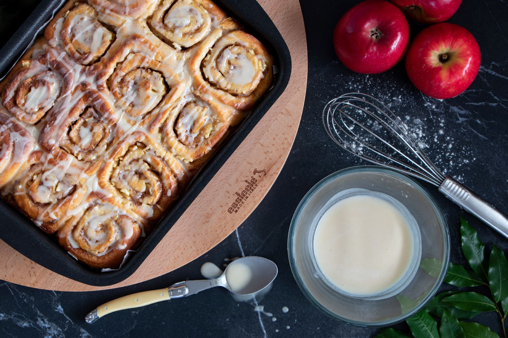Apple, Maple Syrup Cinnamon Scrolls