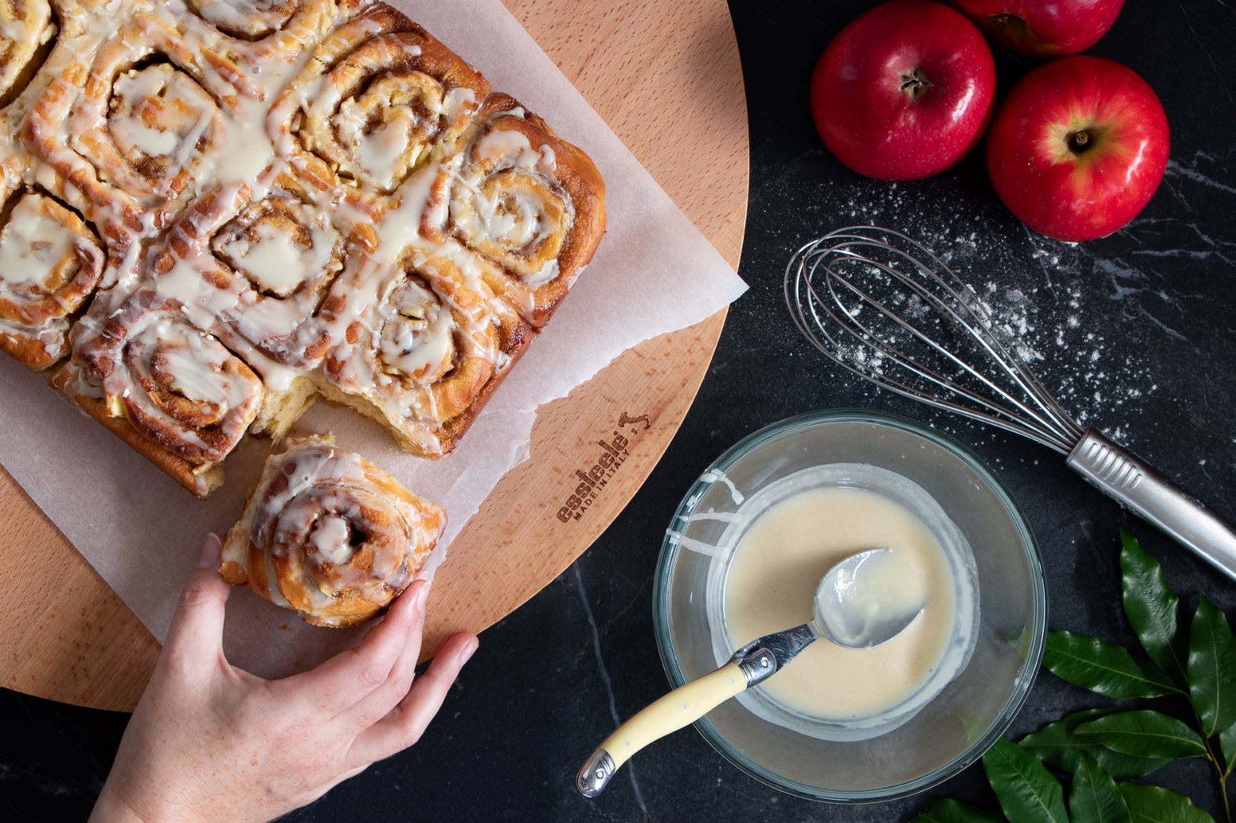 Apple Maple Syrup & Cinnamon Scrolls